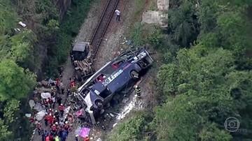Brazylia: autobus pełen ludzi spadł z wiaduktu. Nie żyje 14 pasażerów