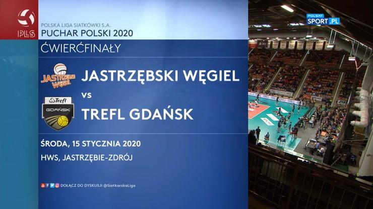 Jastrzębski Węgiel - Trefl Gdańsk 2:3. Skrót meczu
