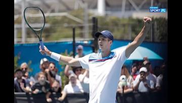 Hurkacz: Nie jestem zadowolony z występu w Australii. Chciałem zagrać z Federerem