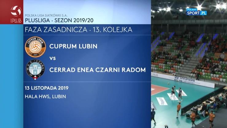 Cuprum Lubin - Cerrad Enea Czarni Radom 1:3. Skrót meczu