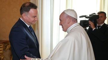 Prezydent rozmawiał z papieżem Franciszkiem