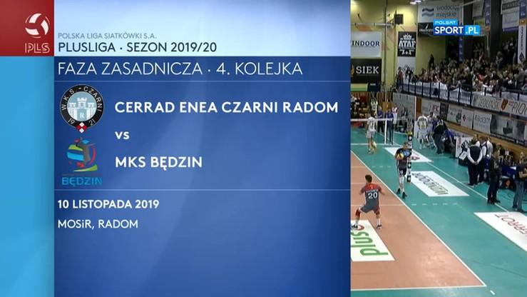 Cerrad Enea Czarni Radom - MKS Będzin 3:0. Skrót meczu
