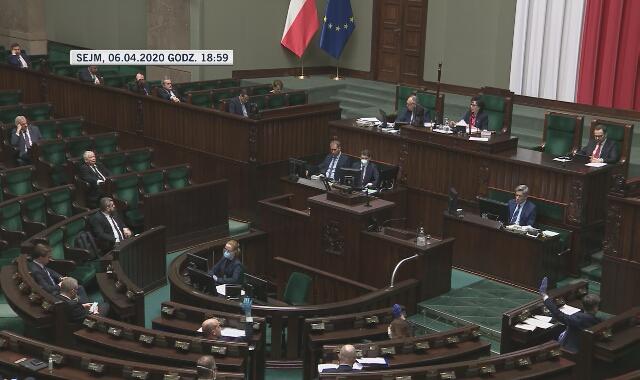 Nietypowe zachowanie podczas posiedzenia Sejmu