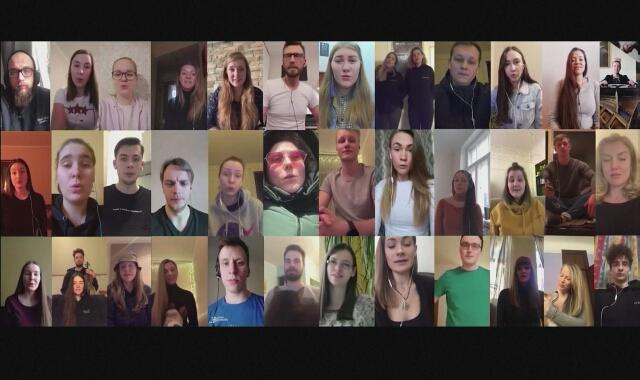 Łotewski chór wykonał koncert online