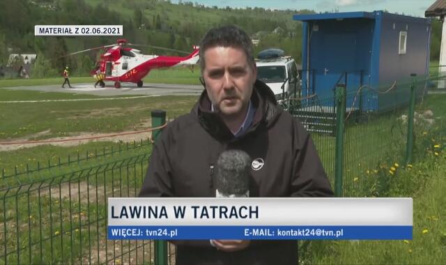 Lawina w Tatrach