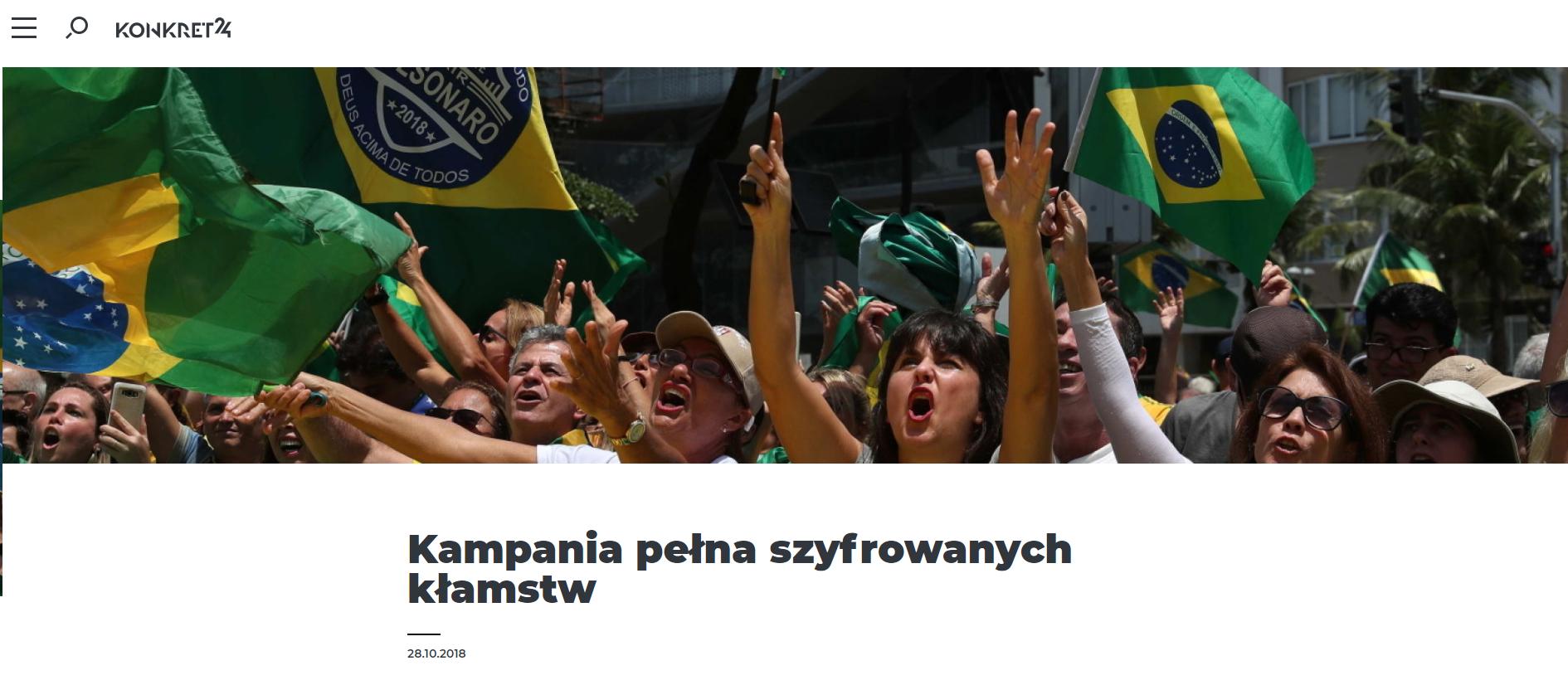 W naszym tekście pisaliśmy o podobnej sytuacji z brazylijskich wyborów
