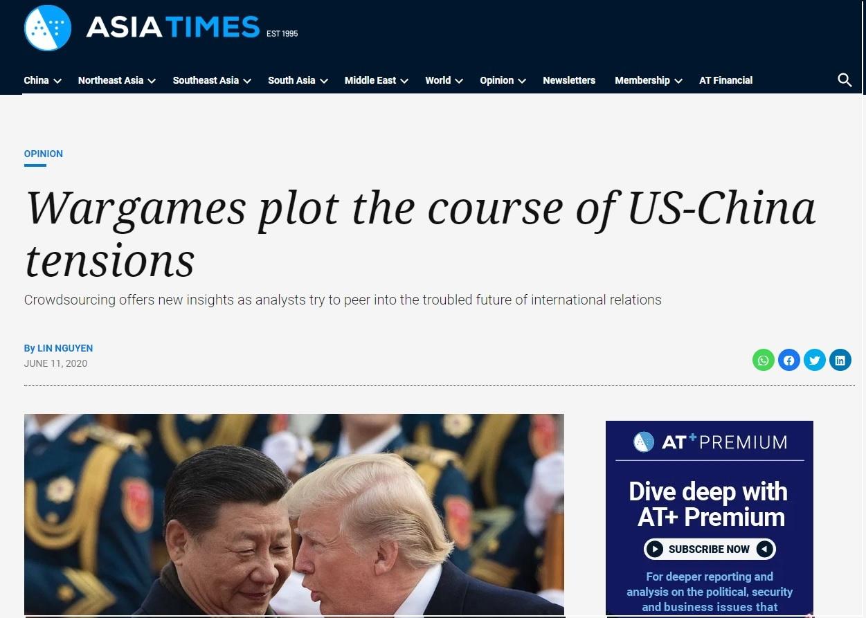 """Nieistniejąca """"analityczka bezpieczeństwa regionalnego Azji Południowej"""" Lin Nguyen publikowała m.in. na stronie Asia Times"""