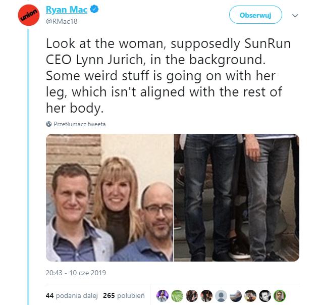 Wpis Ryana maca na Twitterze