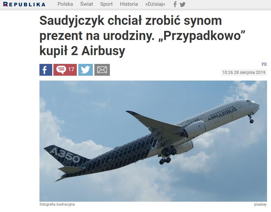 Tekst, który ukazał się na portalu TV Republika