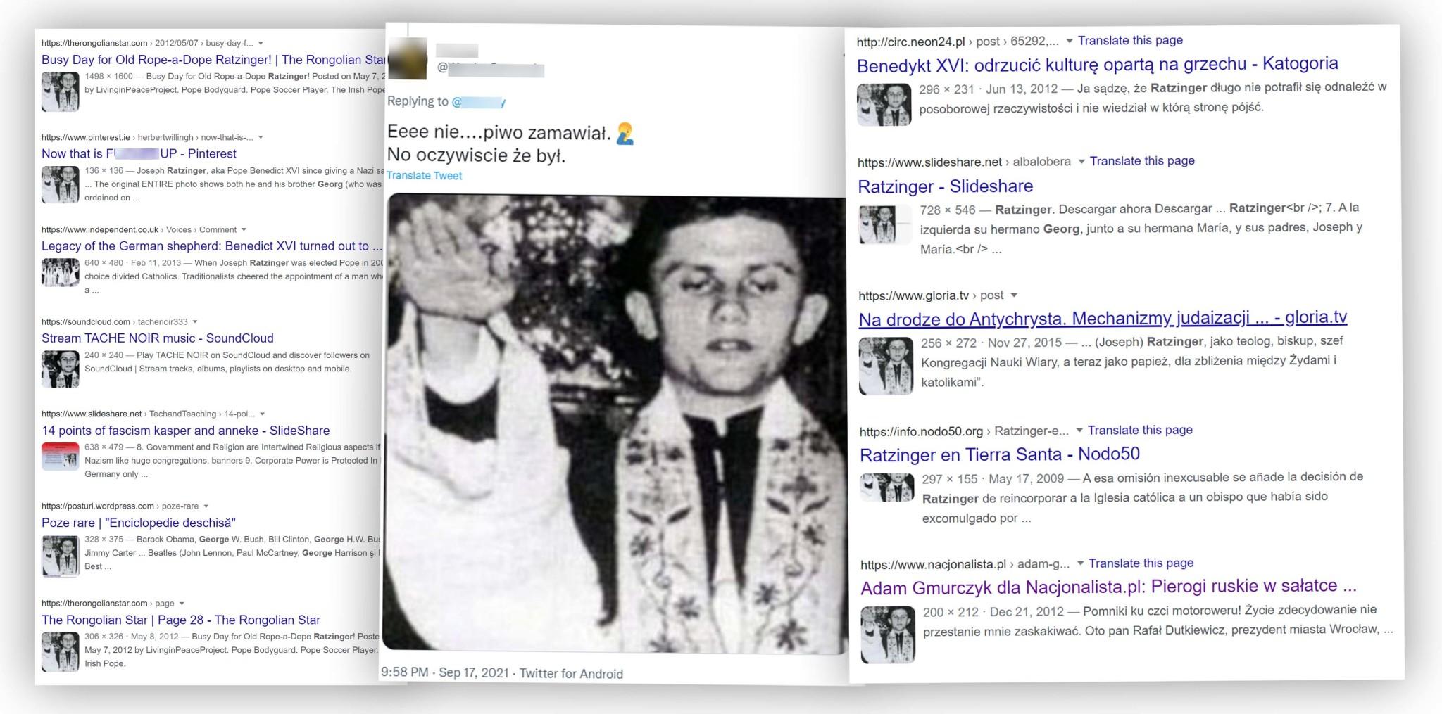 Ta fotografia Józefa Ratzingera od lat krąży w sieci