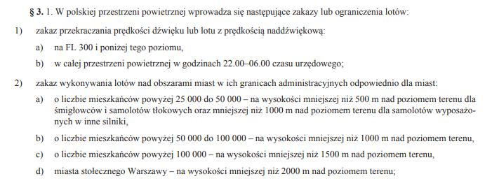Fragment ministerialnego rozporządzenia