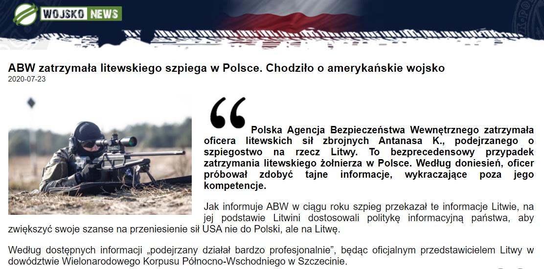 Archiwalna wersja artykułu na portalu Wojskonews.pl