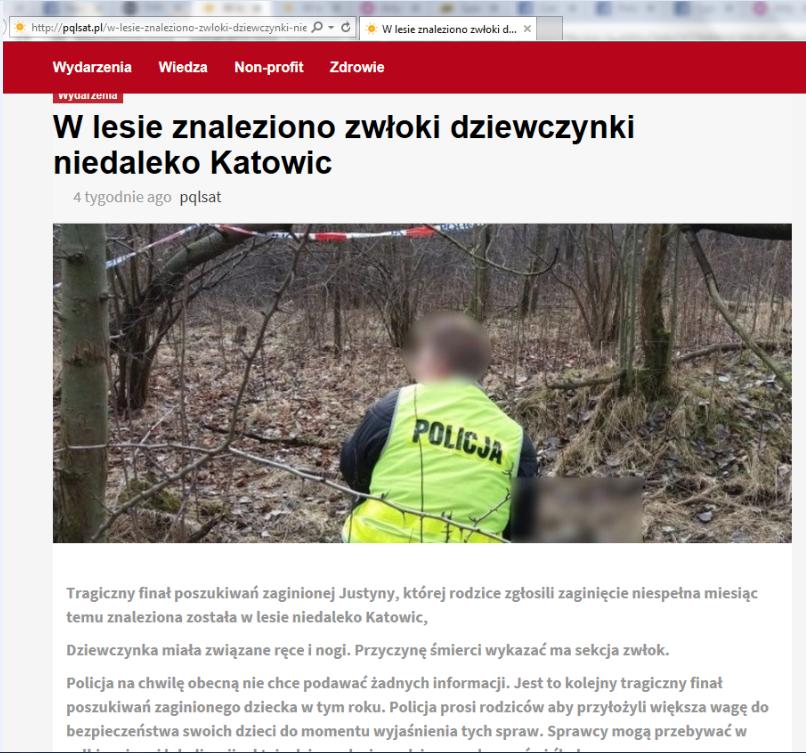 Zrzut ekranu ze strony pqlsat.pl