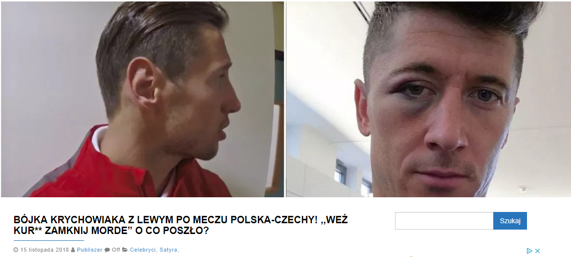 Zrzut ekranu ze strony publiszer.pl
