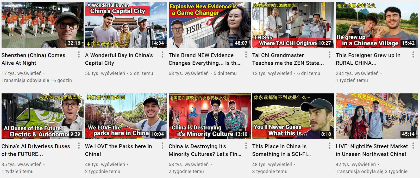 Filmy zamieszczane na profilu Lee i Oliego Barrettów w serwisie YouTube