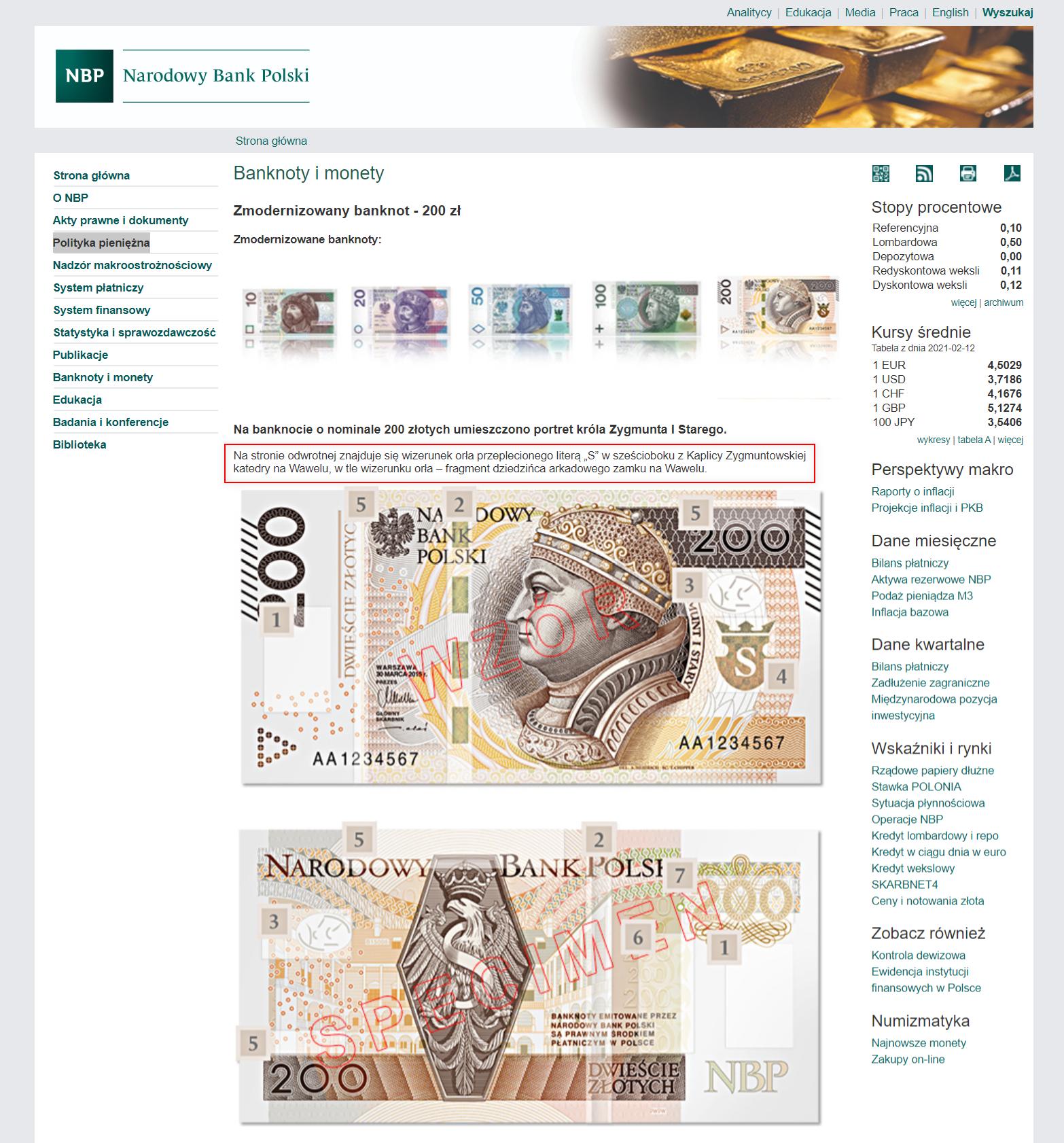 Symbolikę polskich banknotów wyjaśnia na swojej stronie Narodowy Bank Polski