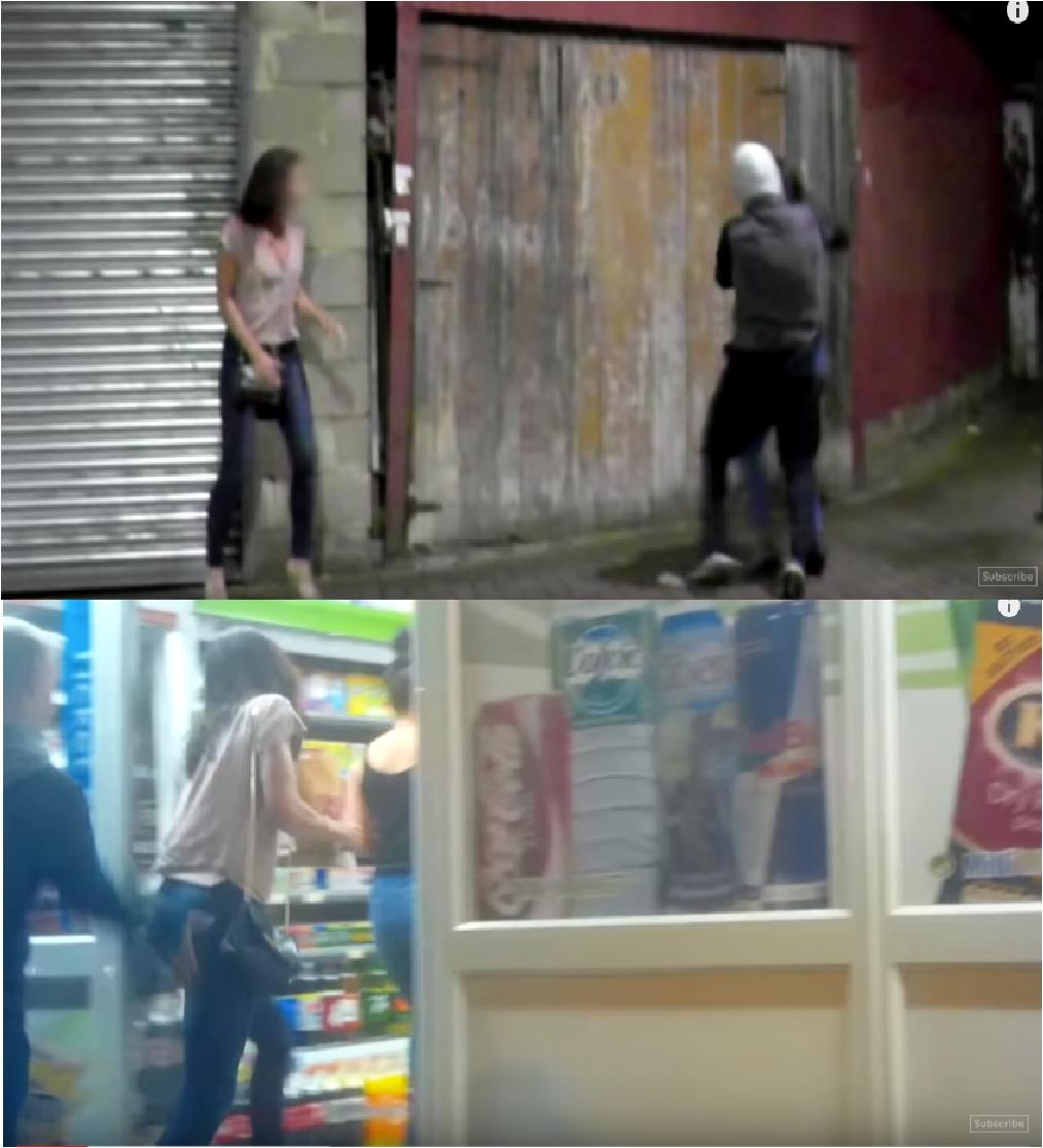 Zdjęcia miały sugerować, że czarnoskóry imigrant napadł na Brytyjki
