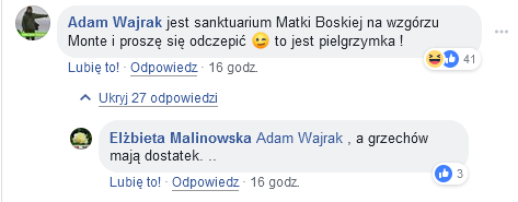 Adam Wajrak. Wypowiedź na Facebooku.