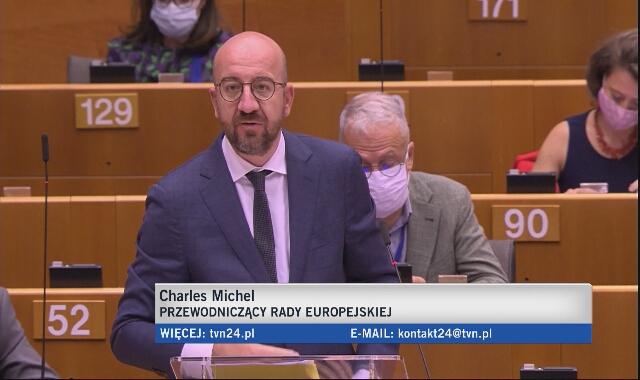 Całe przemówienie Charlesa Michela w Parlamencie Europejskim