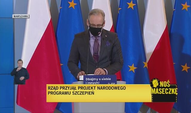 Minister zdrowia Adam Niedzielski o amantadynie (wideo z lutego 2021)