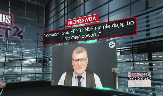 Maseczki typu FFP3 i N99 nic nie dają, ponieważ nie mają zaworu? Dr Grzesiowski odpowiada